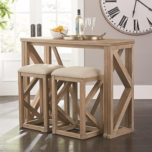 Transitional Folding Table and Stool Set