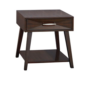 Contemporary 1 Drawer 1 Shelf End Table
