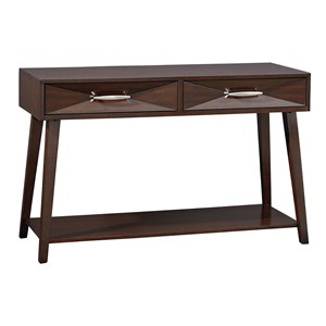 Contemporary 2 Drawer 1 Shelf Console Table