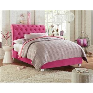 Upholstered Tufted Full Bed