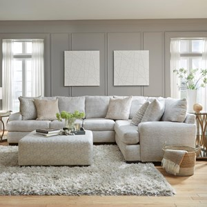 Contemporary 5-Seat Sectional Sofa with Deep Seats