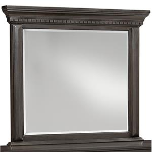 Traditional Mirror with Grey Finish