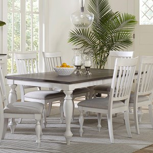 Traditional Dining Table with Turned Legs