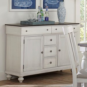 Traditional Sideboard with 5 Drawers and Interior Storage