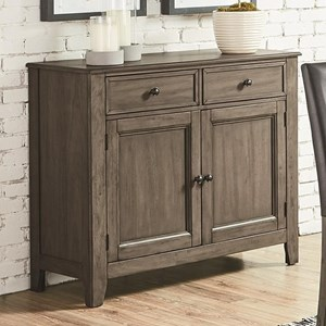 Transitional Sideboard with 2 Drawers and Interior Storage
