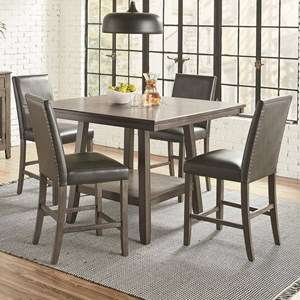 Transitional 5-Piece Counter Height Dining Set