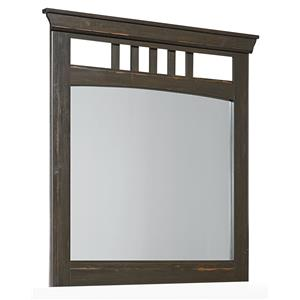 Rustic Mirror with Open Slats