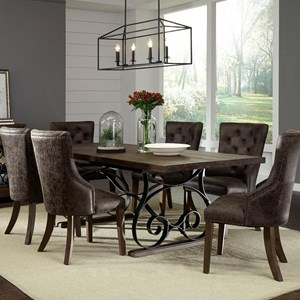 Rustic Table Set with Four Chairs