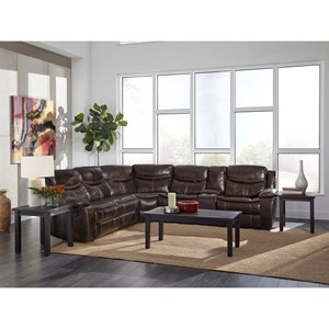 Reclining Sectional with Console and Power Strip