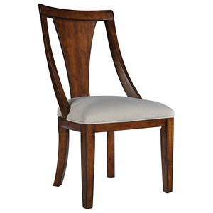Dining Side Chair with Single Slat Back