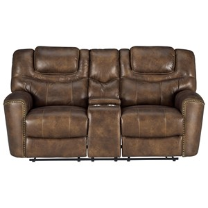 Power Headrest Reclining Loveseat with Console