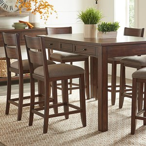 Casual 5-Piece Counter Height Dining Set