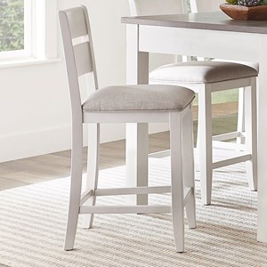 Casual Counter Height Dining Chair with Upholstered Seat 2-Pack