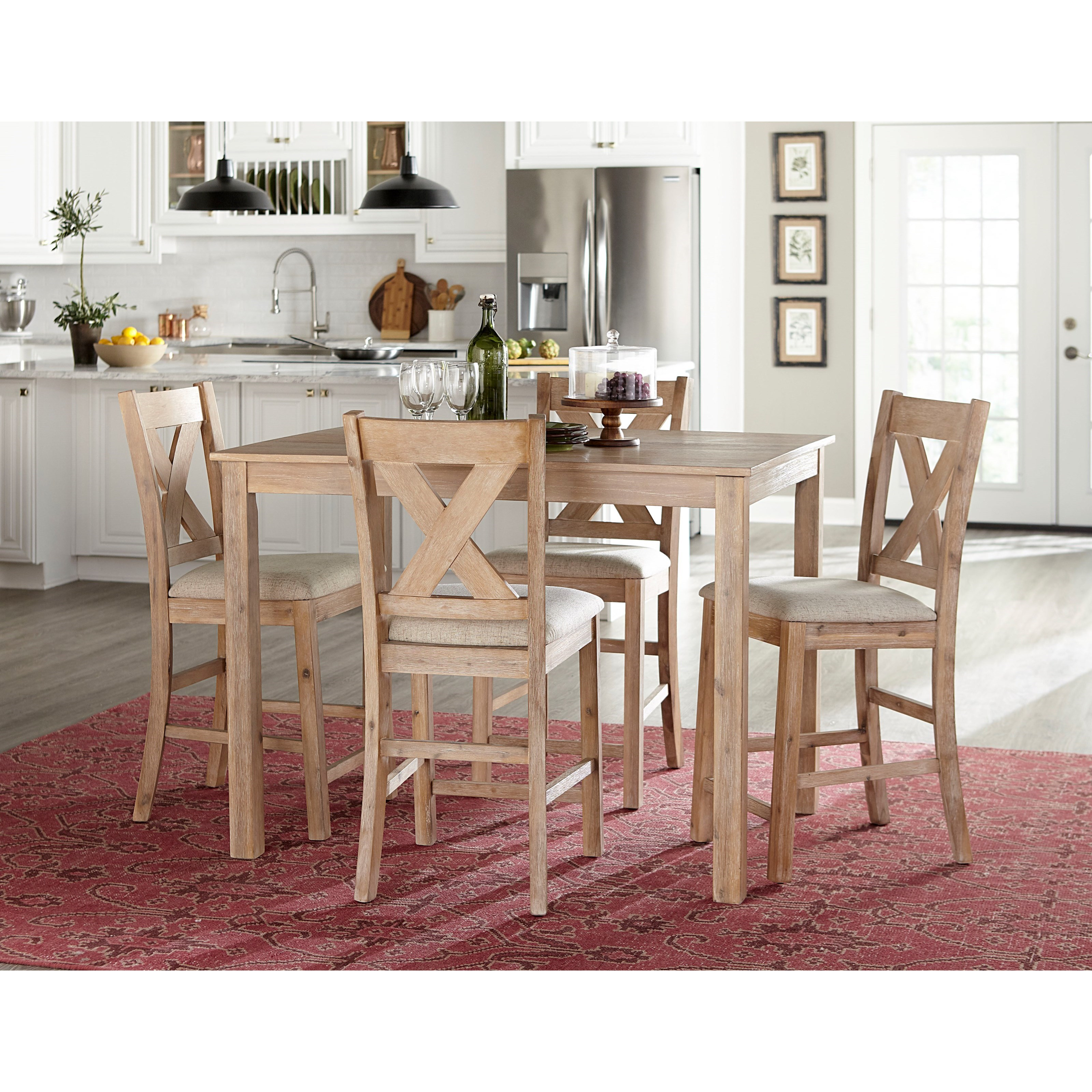 Langston Light 5-Piece Counter Height Dining Set by Standard Furniture at Rooms for Less