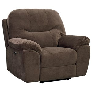 Casual Rocker Manual Recliner with No-Gap Chaise Cushion