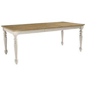 Rectangular Leg Dining Table with Leaf