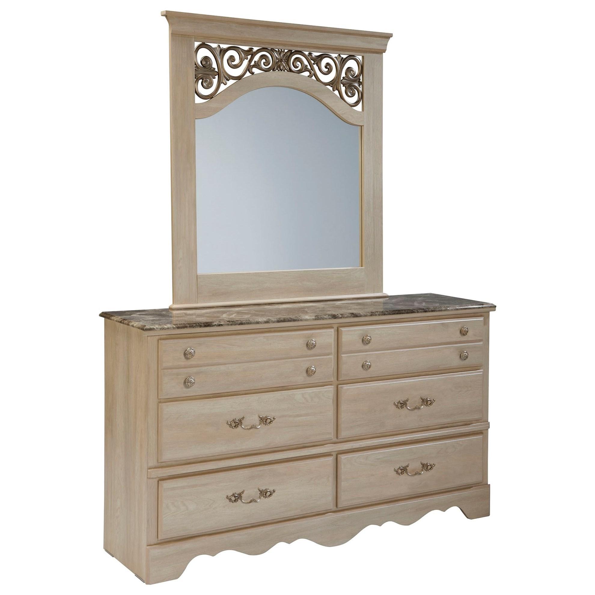 Montecito Dresser + Mirror Set by Standard Furniture at Adcock Furniture