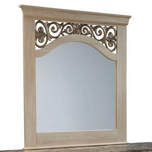 Traditional Dresser Mirror with Elegant Scroll Detail