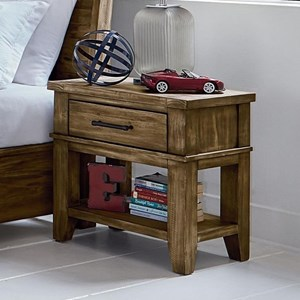 Nightstand with Felt-Lined Top Drawer