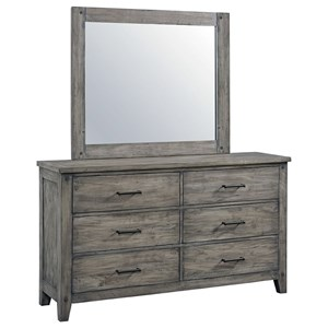 Youth Dresser and Mirror Set