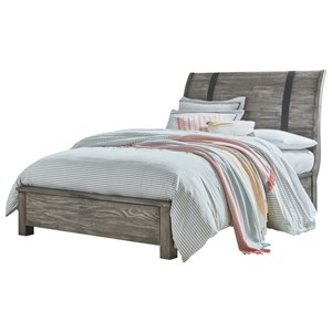Full Rustic Sleigh Bed