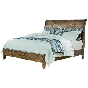 Rustic King Sleigh Bed