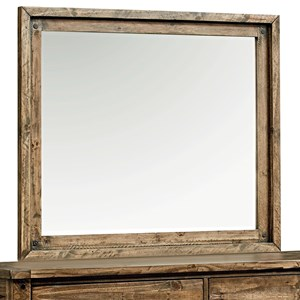 Mirror with Rustic Mirror Frame