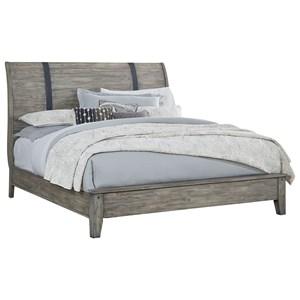 Rustic Queen Sleigh Bed
