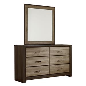 Standard Furniture Oakland Dresser and Mirror Set