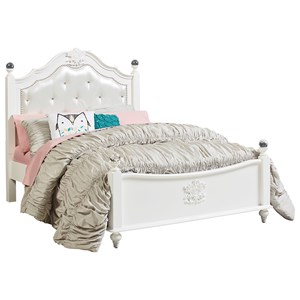 Full Poster Bed with Upholstered Headboard