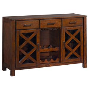 3 Drawer Sideboard with Wine and Glass Rack and 2 Doors