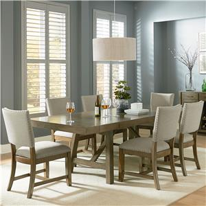 Standard Furniture Omaha Grey Trestle Table Dining Set