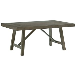 Trestle Dining Room Table with Two Leaves