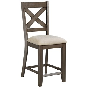 Counter Height Bar Stool with X-Back
