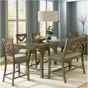 Counter Height 7-Piece Dining Room Table Set
