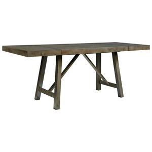 Counter Height Dining Room Table with Trestle Base