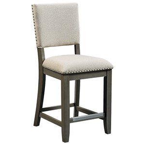 Counter Height Bar Stool with Upholstered Back