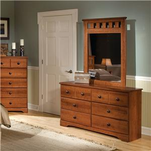 6-Drawer Dresser & Panel Mirror