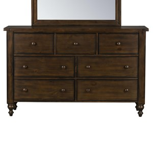 Traditional Five Drawer Dresser with Hidden Jewelry Drawer
