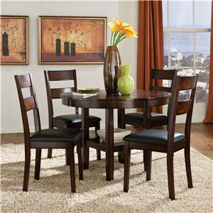 5 Piece Round Table & Dining Side Chairs Set