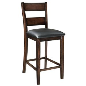 "24"" Dark Cherry Finished Counter Stool"