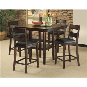 5-Piece Contemporary Counter Height Table and Stool Set