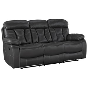 Reclining Sofa with Pillow Arms and Drop Down Center Console
