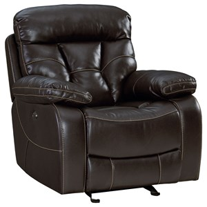 Traditional Glider Recliner with Pillow Arms