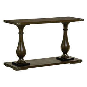 Console Table with Pillar Legs