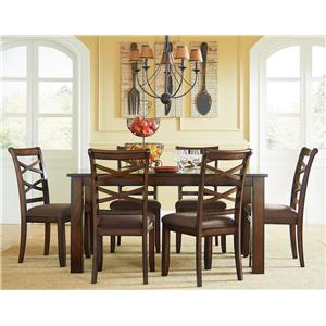 Casual Transitional 7-Piece Dining Set