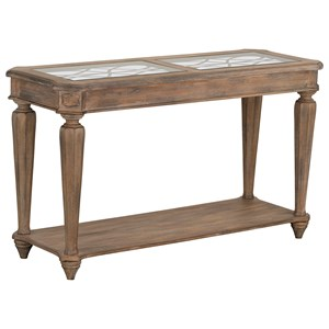 Traditional Sofa Table with Top Insert