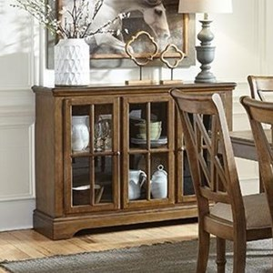 Dining Sideboard with Glass Door Panels