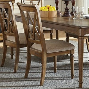 Dining Side Chair with X-Back Design