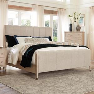 Transitional King Upholstered Bed